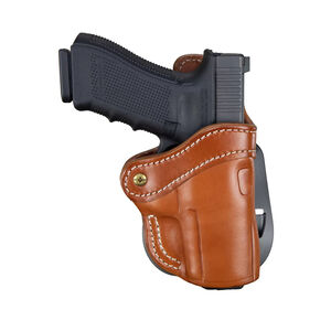 1791 Gunleather Optic Ready Open Top Multi-Fit 2.4s OWB Paddle Holster for FN 509/SIG P229/P228 Semi Auto Models Right Hand Draw Leather Classic Brown