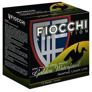 """Fiocchi 12 Gauge Ammunition 250 Rounds 3.00"""" #4 Steel Shot 1.25 oz."""
