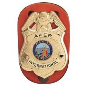 Aker Leather Clip on Federal Badge Holder Leather Metal