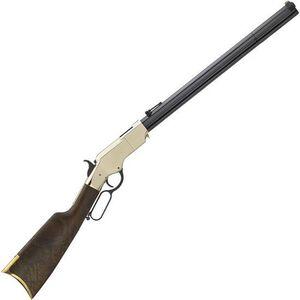"Henry Original Rare Carbine Lever Action Rifle .44-40 Win 10 Rounds 20.5"" Octagonal Barrel Brass Receiver Walnut Stock Blued"