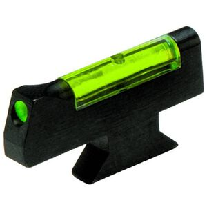 HiViz Front Sight S&W Revolver Green Fiber Front Steel Black SW3001G
