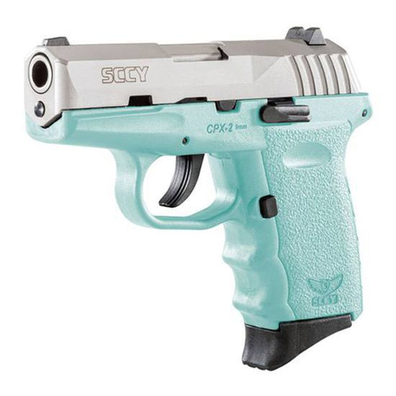 """SCCY CPX-2 9mm 3.1"""" Barrel 10 Rounds Blue/Stainless Steel"""