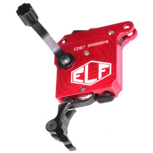 Elftmann Tactical Remington 700 SE Precision Rifle Trigger Adjustable Pull Weight Safety/Bolt Release/Curved Black Trigger Shoe