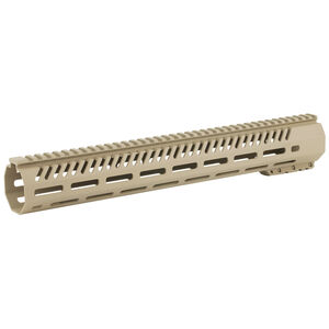 "Mission First Tactical TEKKO AR-15 15"" Free Float M-LOK Rail System 6061 Aluminum Hard Coat Anodized Scorched Dark Earth Finish"