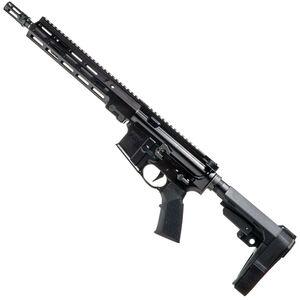 "Geissele Automatics Super Duty AR-15 Pistol 5.56 NATO 11.5"" Barrel No Magazine SMR MK16 Free Float Rail SB Tactical SBA3 Luna Black"