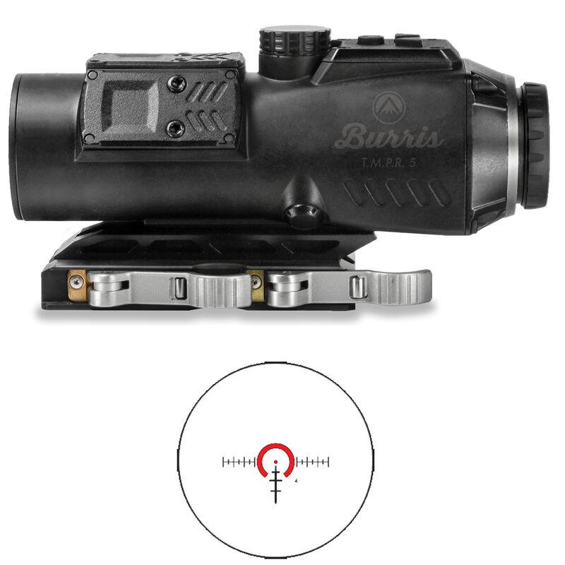Burris AR-15 T.M.P.R 5 Prism Sight 5x32 Ballistic AR Reticle Illuminated Red/Green/Blue .25 MOA Adjustments Quick Detach Base Matte Black Finish