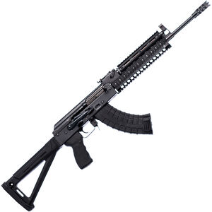 "Riley Defense RAK-47-T-MP AK-47 Semi Auto Rifle 7.62x39mm 16.25"" Barrel 30 Rounds Aluminum Quadrail Handguard Magpul Polymer Stock and Grip Black Finish"