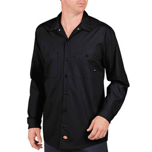 Dickies Long Sleeve Industrial Permanent Press Poplin Work Shirt Extra Large Regular LL535BK