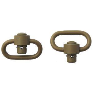 GrovTec Heavy Duty Push Button Swivels Stainless Steel Cerakote Flat Dark Earth GTSW253