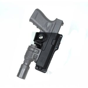 "Fobus Tactical Holster Glock 19, 23, 32/Taurus PT940 Right Hand Polymer Body Roto Belt Attachment Fits 2.25"" Belts Black"