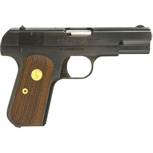 "US Armament Corp 1903 Pocket Hammerless .32 ACP Semi Auto Pistol 3.75"" Barrel 8 Rounds Colt General Officer's Pistol Walnut Grips Military Grey Parkerized Finish"