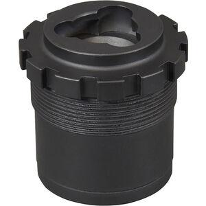 "Yankee Hill 3-Lug Adapter Assembly 1-3/8""-24 tpi Aluminum/Stainless Steel Matte Black"