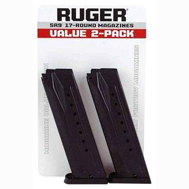 Ruger SR9/SR9C/9E 9mm Magazine 17 Rounds Steel Black 2 Pack 90449