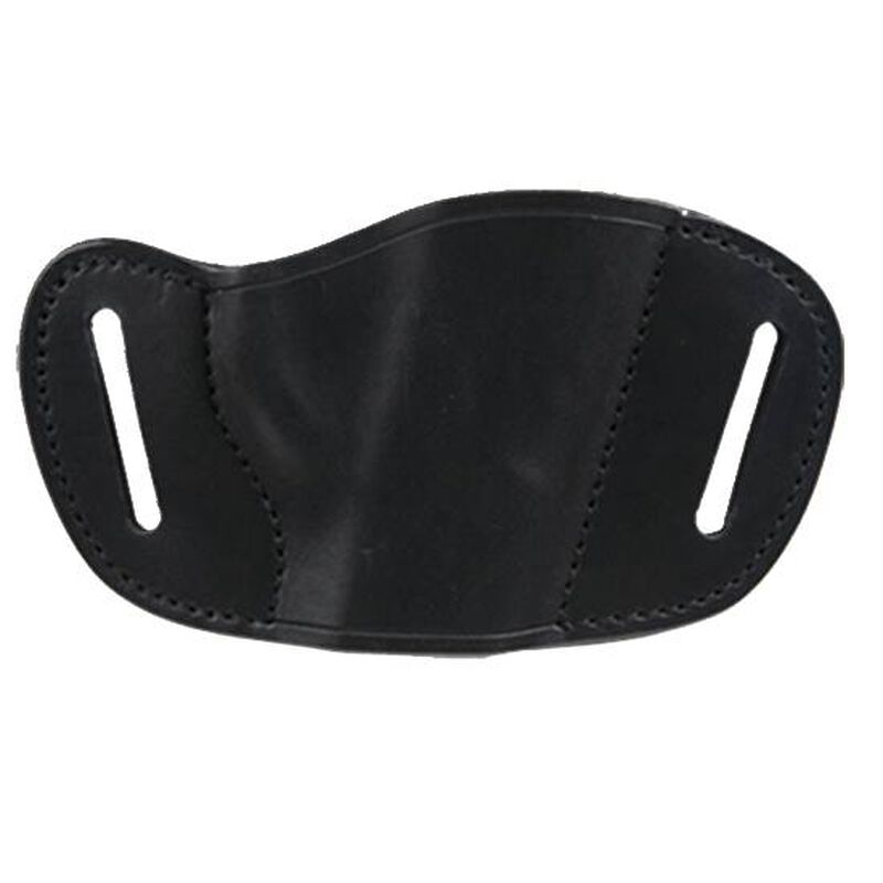 Bulldog Case Belt Slide Holster Medium Autos Right Hand Leather Black MLB-M