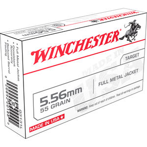 Winchester USA 5.56 NATO Ammunition 20 Rounds FMJ 55 Grains Q3131