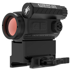 American Defense Manufacturing Spek 2 MOA Red Dot Sight with T1 Co-Witness Mount QD Lever Black