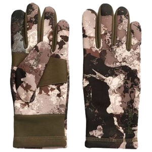 Hot Shot Guardian Stretch Fleece Glove Veil Camo Cervidae Pattern Touch Silicone Index and Thumb Large