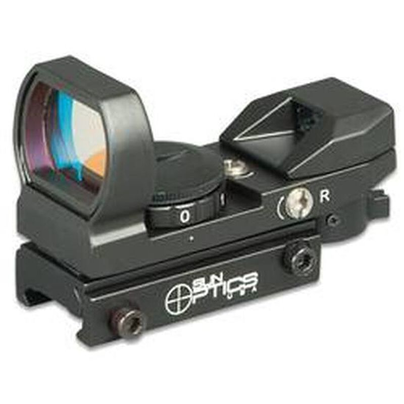 Sun Optics Reflex Sight 4 Red/Green Reticles 23X33mm Aperture CD13-RRG