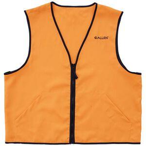Allen Deluxe Blaze Orange Hunting Vest Medium Standard Fit Heavy Duty Zipper Two Large Pockets Polyester High Visibility Orange
