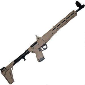 "Kel-Tec SUB-2000 G2 9mm Luger Semi Auto Rifle 16.25"" Barrel 17 Rounds M-LOK Compatible GLOCK 17 Mags Adjustable Stock Tan"