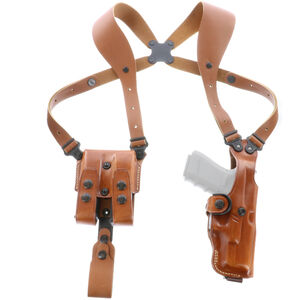 """Galco VHS Shoulder Holster System fits 1911 with 5"""" Barrel and Clones Ambidextrous Leather Tan"""