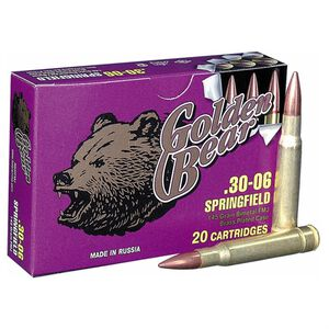 Golden Bear .30-06 Springfield Ammunition 500 Rounds FMJ 145 Grains AG30FMJ