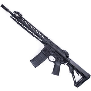 "Spikes Tactical Crusader AR-15 Semi Auto Rifle 5.56 NATO 14.5"" Barrel with Pinned Dynacomp 2 M-LOK Rail MBUS Sights"
