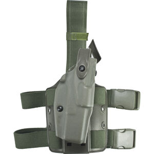 Safariland 6005 SLS Tactical Holster with Quick Release Leg Harness Fits S&W 4906TSW with ITI M5 or Similar Light Left Hand STX Tactical Finish OD Green