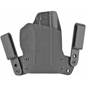 BlackPoint Tactical Mini WING IWB Holster fits SIG P320 X-Carry Right Hand Leather/Kydex Hybrid Black