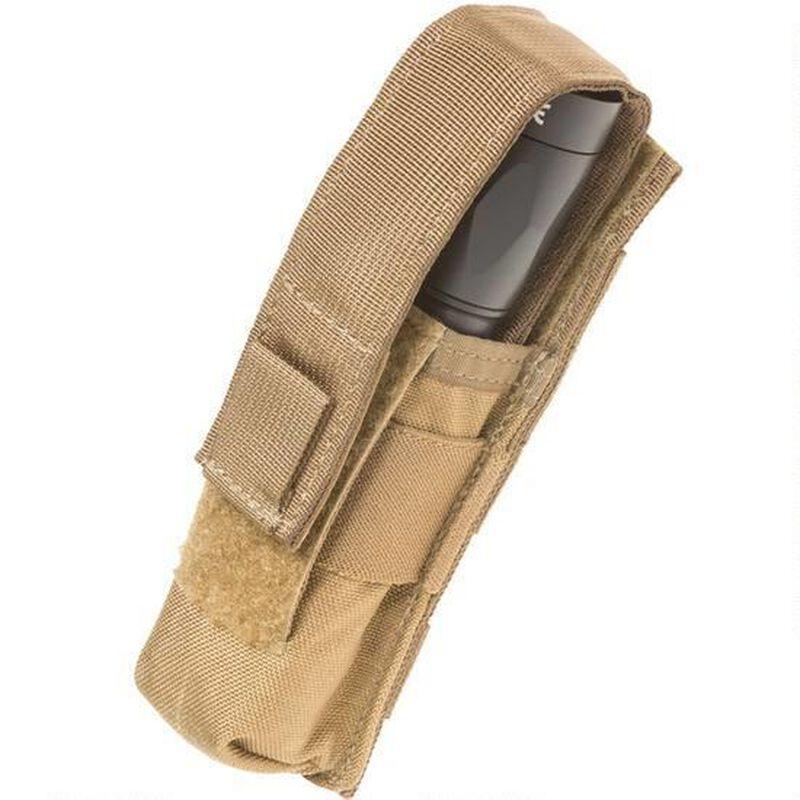Tac Shield Suppressor/Flashlight MOLLE Pouch Coyote