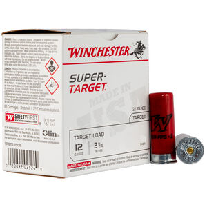 "Winchester Super-Target 12 Gauge Ammunition 25 Round Box 2-3/4"" #7 Steel Shot 1-1/8 oz 1200 fps"