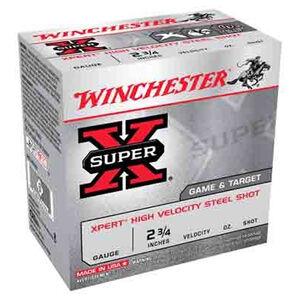 """Winchester Super X Expert 20 Gauge Ammunition 25 Rounds 2.75"""" #6 Steel 3/4 Ounce WE20GT6"""