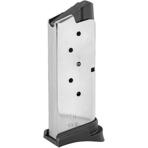 FN-USA Magazine For FN 503 9MM 6 Rounds Stainless Steel Polymer Black