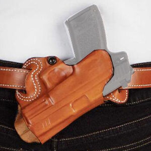 "DeSantis Small of Back Holster S&W M&P 9/40 M2.0 4.25"" And Similar OWB Belt Holster Right Hand Leather Tan"