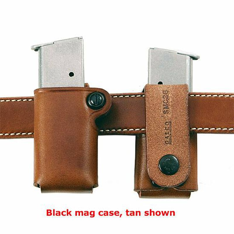 Galco SMC Single Magazine Pouch S&W M&P 9/40 Compact Magazines Belt Snap Loop Leather Black