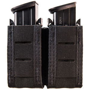 High Speed Gear Duty Double Pistol TACO Belt/MOLLE Magazine Pouch Cordura Black