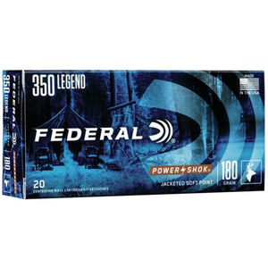 Federal Power-Shok 350 Legend Ammunition 180 Grain JSP Bullet 2100 fps