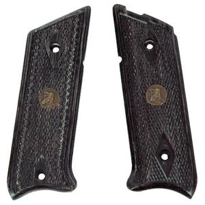 Pachmayr Renegade Ruger Mark II/III Laminate Wood Grips Checkered Black/Grey