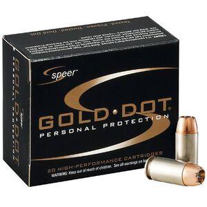 Speer .357 SIG Ammunition 20 Rounds Grain Gold Dot HP 125 Grains