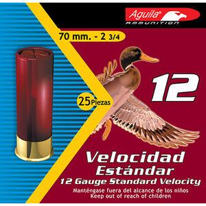 """Aguila 12 Gauge Ammunition 250 Shells 1 1/8 Ounce #4 Lead 2 3/4"""""""