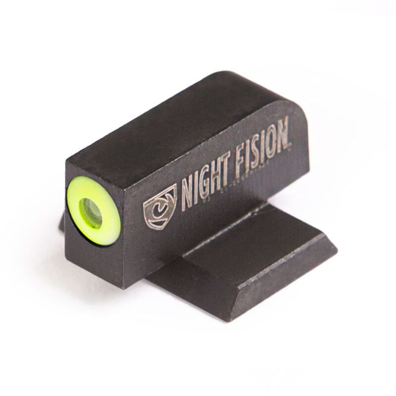 Night Fision Perfect Dot Tritium Front Night Sight Canik TP9SFx/TP9SFL/TP9SF Elite/TP9SA Green Tritium Front Yellow Outline Metal Body Black Nitride Finish