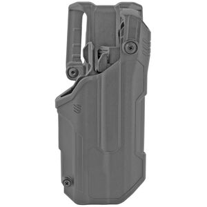 Blackhawk T-Series L3D Light-Bearing Holster Fits GLOCK 20,21,36,38, (22/23 Gen 5) S&W M&P no Thumb Safety, HK VP9 with TLR-1/2 Polymer Right Hand Black