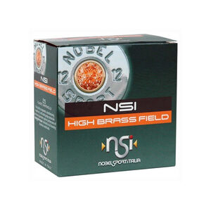 "NobelSport High Brass Field 12 ga 2-3/4"" #4 Lead 1-1/4 oz 25 Round Box"