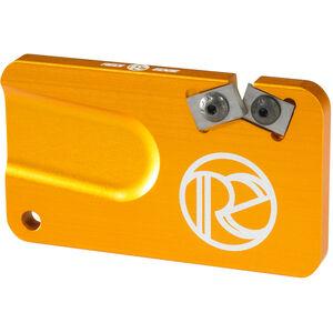 Redi-Edge Pocket Knife Sharpener Right Handed Duromite Blades Orange Anodized Aluminum Body