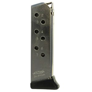 Walther PPK/S 7 Round Mag w/Finger Rest .380 ACP Nickel