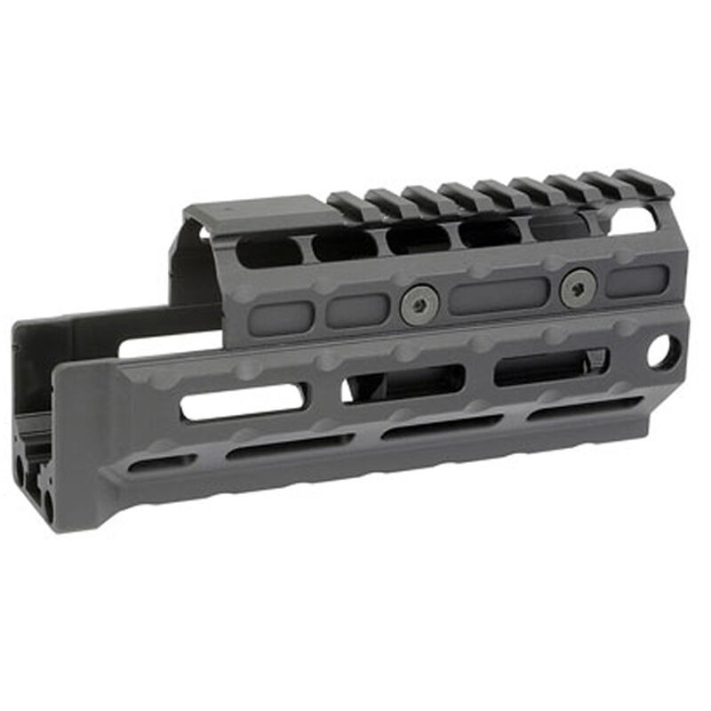 Midwest Industries AK-47/AK-74 Yugo M70 Gen 2 Standard Length Hand Guard Railed Top Cover M-LOK Compatible 6061 Aluminum Hard Coat Anodized Matte Black