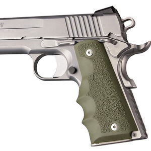 Hogue Overmolded Rubber Grips 1911 Government/Commander OD Green