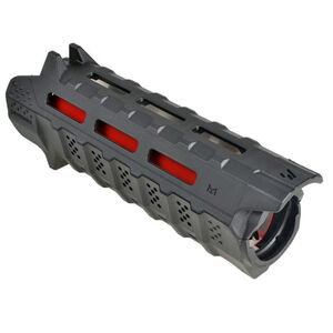 Strike Industries AR-15 Hand Guard Carbine Length M-LOK Compatible 2 Piece Drop-In Red Heat Shield Polymer Black SI-STRIKE-HG-CBK-RED