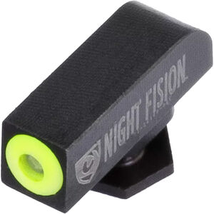 Night Fision Perfect Dot Tritium Front Sight All GLOCK Models Green Tritium with Yellow Ring Square Top Metal Body Black Nitride Finish