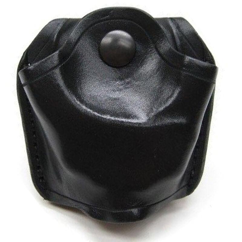 Aker Leather 506 Slim Open Top Handcuff Case Plain Black